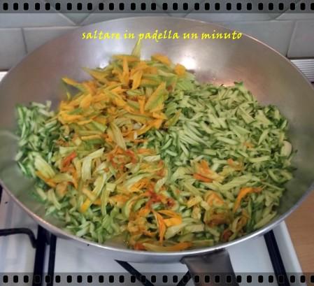 zucchine con fiori di zucchine